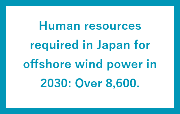 Human resources required in Japan for offshore wind power in 2030: Over 8,600.