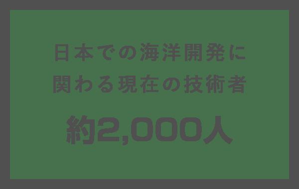 日本での海洋開発に関わる現在の技術者